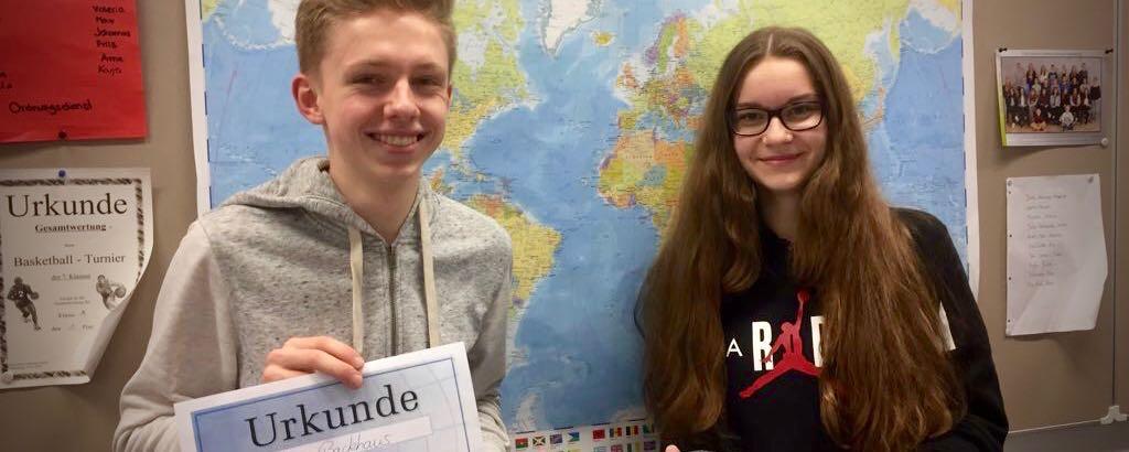 Max Backhaus (8a) GAG-Schulsieger DesDiercke Wissen Wettbewerbs 2017