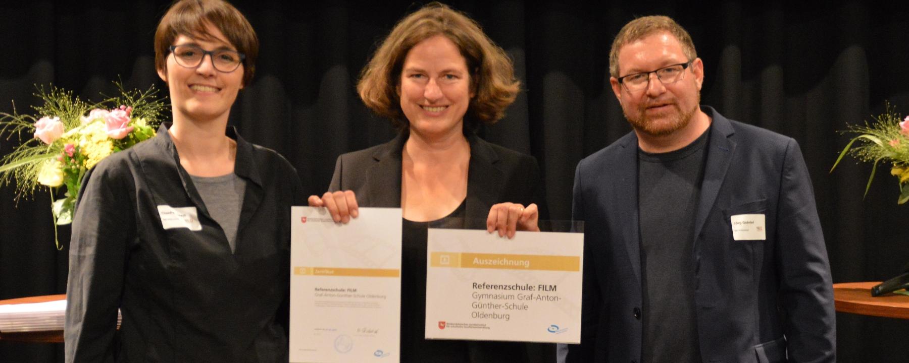 """GAG erneut als """"Referenzschule: Film"""" zertifiziert"""