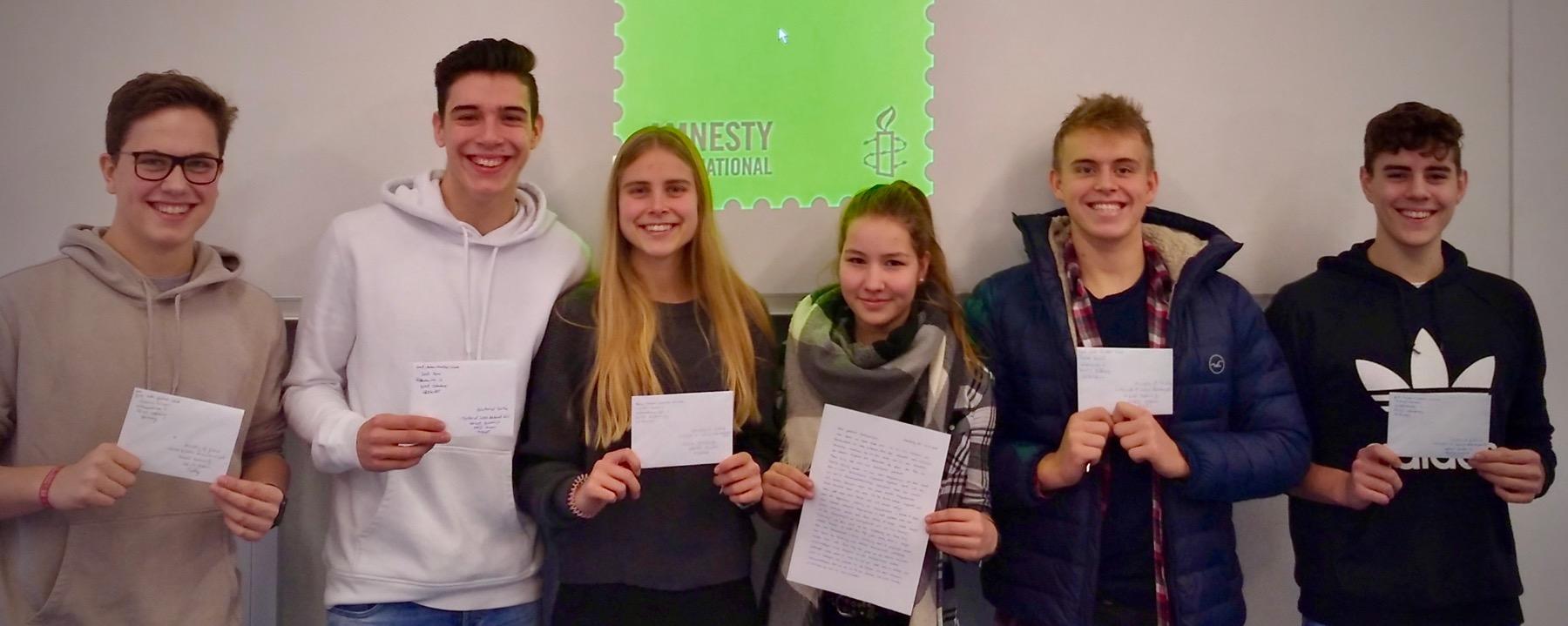 Write for Rights – GAG-Schüler schreiben für die Wahrung der Menschenrechte
