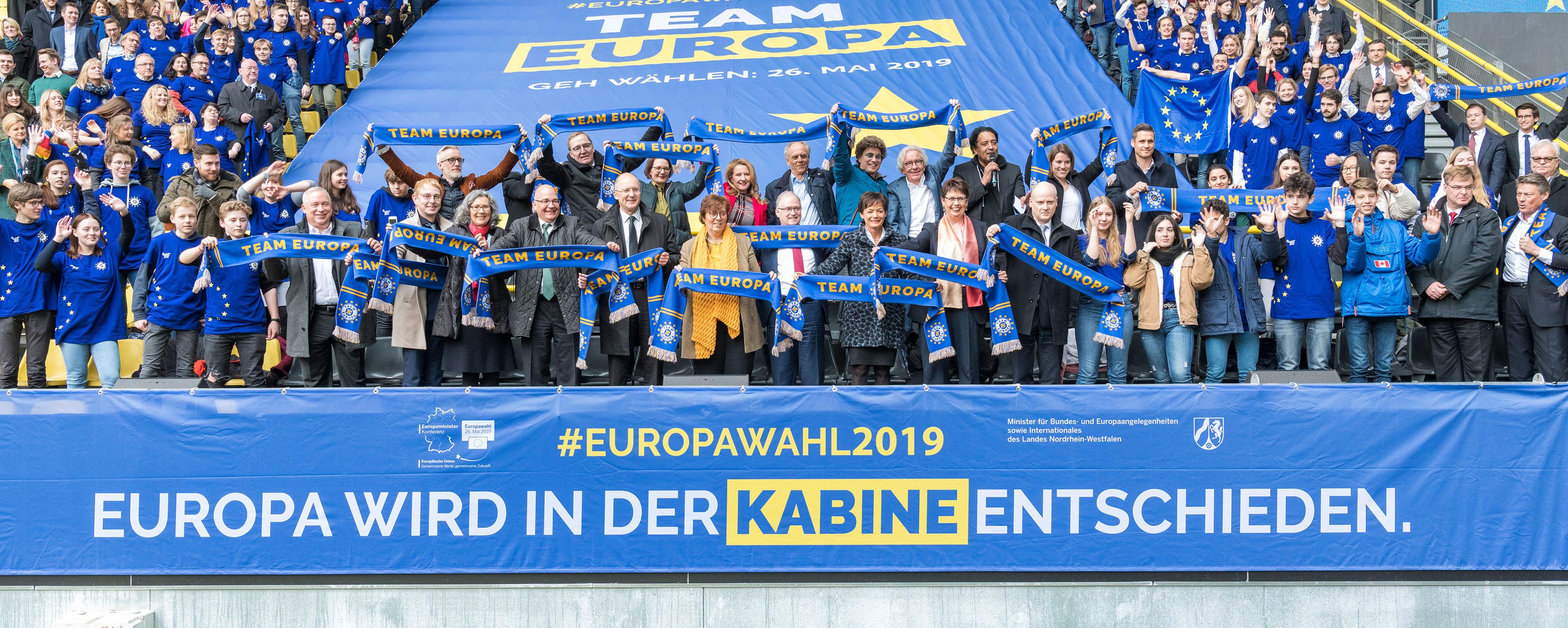 Mal schnell für ein funktionierendes Europa werben
